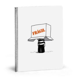 Cuaderno La Volátil, FRÁGIL (grande)