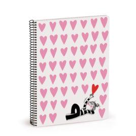 Cuaderno La Volátil, CORAZONES (pequeño)