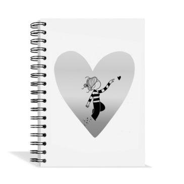 Libreta Corazón blanco