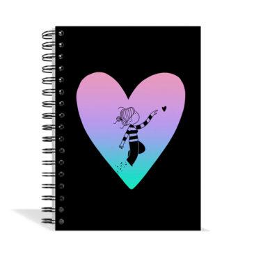 Libreta Corazón negro
